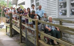 Ramp Build with Volunteers and Ramp Recipient
